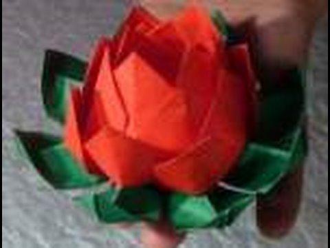 Kağıttan Nilüfer Çiçeği Origami