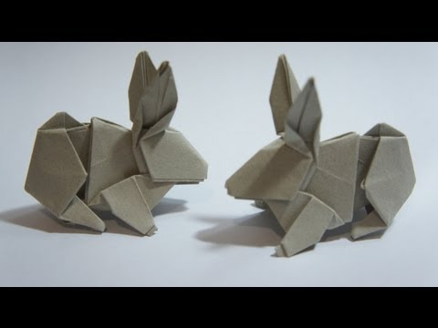 Kağıttan Tavşan Origami Rabbit