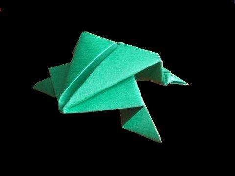 Kağıttan Zıplayan Kurbağa Origami