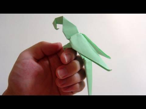 Kağıttan Papağan Origami