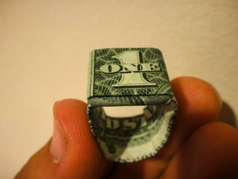 How to Make an Origami Dollar Ring