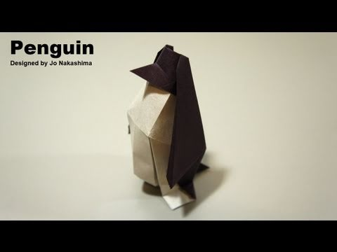 Kağıttan Penguen Origami Penguin